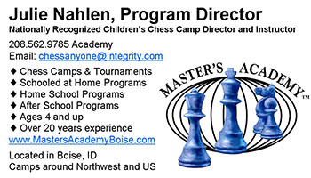 Masters Academy Boise business card