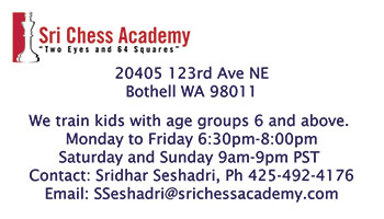 Sri Chess Academy business card